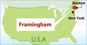 フラミンガム地図