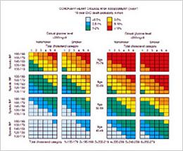 冠動脈疾患死亡のリスク評価チャート