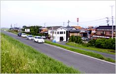 田主丸: 対象となった筑豊川沿いの地域