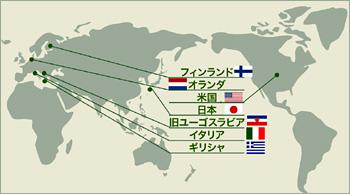 各地域を示す地図